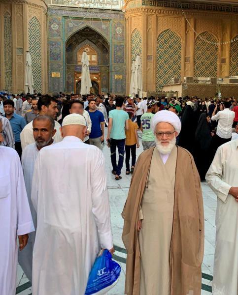 المرجع اليعقوبي يجدد عهد البيعة والولاء في ذكرى عيد الغدير الاغر